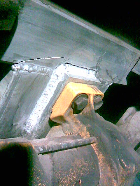Some of our Aluminum Repairs, A Dump Truck Shaker Mount